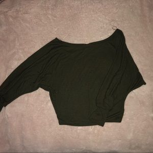 Off the shoulder , Military Green